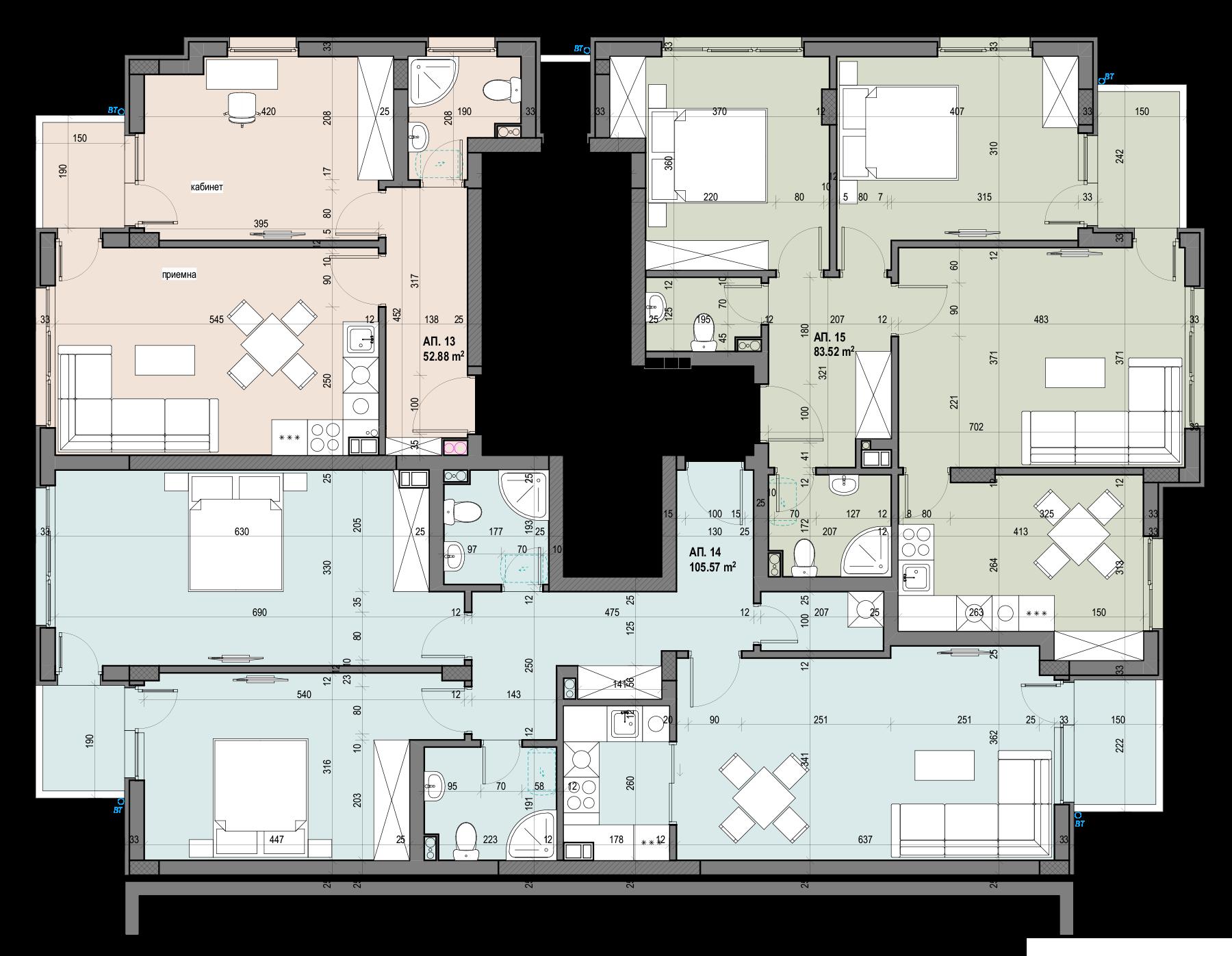Люлин Балатон 3, етаж 5