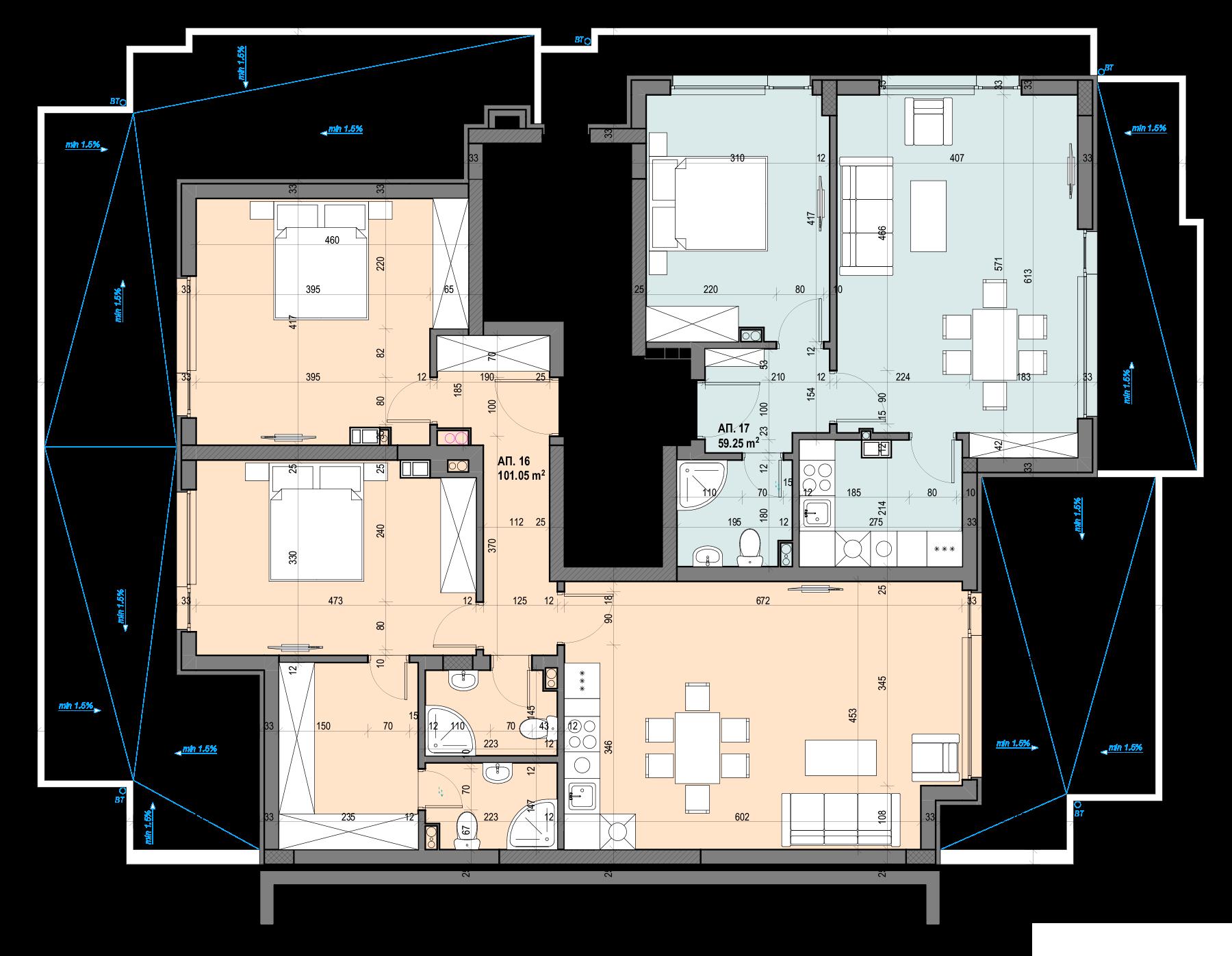 Люлин Балатон 3, етаж 6